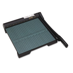 "Martin Yale The Original Green 20 Sheet Trimmer™, 13x14 1/2 Wood Base, Steel Blade, 12"" Cut"