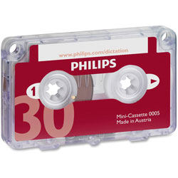 Philips Dictation Minicassette, 30 Minutes (15 X 2)