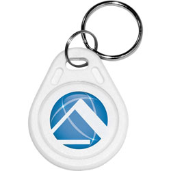 Pyramid Key Fobs, 5/Pack, White