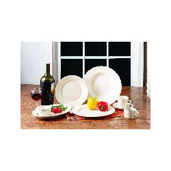 "Libbey PWC-5 5.5"" Off White Ultima China Plate"
