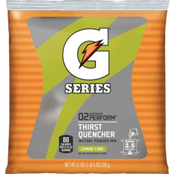 Quaker Foods Sports Drink Powder, Lemon Lime, Yields 2-1/2 Gallons, Each