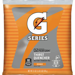 Quaker Foods Sports Drink Powder, Orange, Yields 2-1/2 Gallons, Each