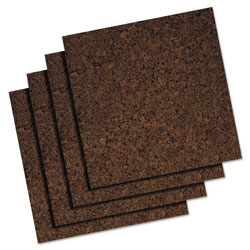 Quartet Dark Cork Panels, 1' x 1'
