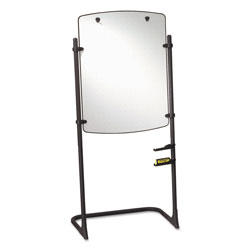 "Quartet High Style Silhouette Total Erase® Easel, Black, 31w x 41h Board, 75""h"