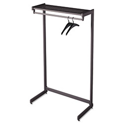 Quartet SingleSided One Shelf Steel Garment Rack, 36w x 181/2d x 611/2h, Black