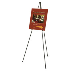 Quartet Heavy Duty Lightweight Instant Steel Easel, Black