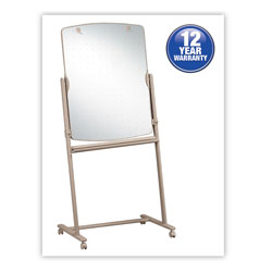 Quartet Reversible Small Mobile 2 Sided Easel, 30w x 41h Board, Neutral