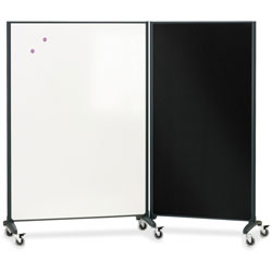 Quartet Motion Marker & Bulletin Room Divider, 6 ft. x 3 ft.