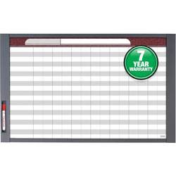 Quartet InView Custom Whiteboard, 37 x 23, Graphite Frame