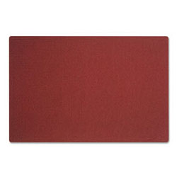 "Quartet Oval Office Frameless Fabric Bulletin Board, 36""w x 24""h, Port Red"