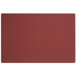 "Quartet Oval Office Frameless Fabric Bulletin Board, 48""w x 36""h, Port Red"