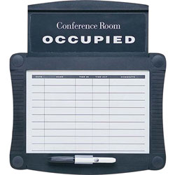 Quartet Conference Room Scheduler with WriteOn, WipeOff Surface, 151/2w x 141/4h