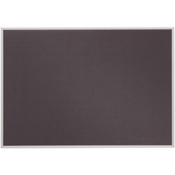 Quartet Bulletin Board, Slim Profile Aluminum Frame, 23 x 16, Woven Gray Fabric