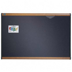 Quartet Gray Diamond Mesh Bulletin Board, 48 x 36, Maple Frame