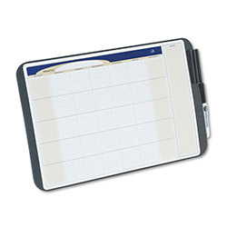 "Quartet Monthly Calendar Board with Black Tackable Area, 17"" x 11"""