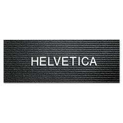 "Quartet Plastic 1"" Helvetica Characters for Grooved Boards, F Series, 144/Set, White"