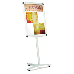"Quartet Pedestal Stand for 24"" x 18"" Sign Frame, Aluminum, 54"" High"