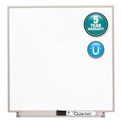 Quartet Magnetic Dry Erase Board, Painted Steel, 16 x 16, White, Aluminum Frame