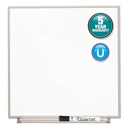 Quartet Magnetic Dry Erase Board, Painted Steel, 23 x 23, White, Aluminum Frame