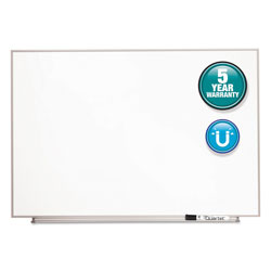 Quartet Magnetic Dry Erase Board, Painted Steel, 34 x 23, White, Aluminum Frame