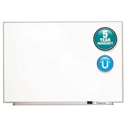 Quartet Magnetic Dry Erase Board, Painted Steel, 48 x 31, White, Aluminum Frame