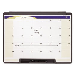 Quartet Portable Monthly Calendar, Dry Erase, 24 x 18