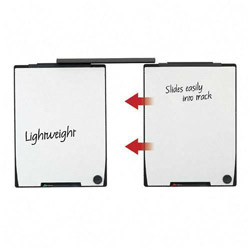 Quartet Motion Board and Track Set, 2 Total Erase 30x40 Panels/Mounting Track