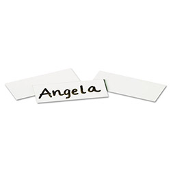 Quartet Magnetic Write On/Wipe Off Strips, 2w x 7/8h, White, 25/Pack
