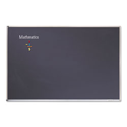 Quartet Chalk Board, Aluminum Frame, 8' x 4', Black