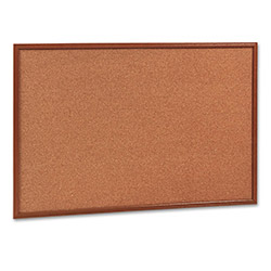 Quartet Cork Board, 3'x2', Oak Frame