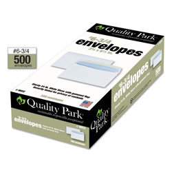 Quality Park Security Mailing Envelopes, Contemporary Seam, #6 3/4, 3 5/8 x 6 1/2, 500/Box