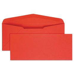 Quality Park Colored Envelopes, #10 Red, 4 1/8 x 9 1/2, 25/Pack