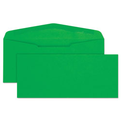 Quality Park Colored Envelopes, #10 Green, 4 1/8 x 9 1/2, 25/Pack