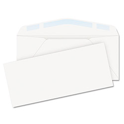 "Quality Park Envelopes No. 10, 24 Lb., 4-1/8"" x 9-1/2"", 100/BX, White"