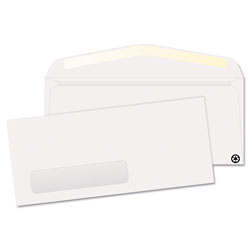 Quality Park White Left Window Envelopes, Contemporary Seam, #10, Recycled, 500/Box