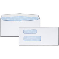 Quality Park Double Window Envelopes, #9