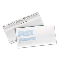 Quality Park EcoEnvelope Reusable Two-Way Double Window Envelope, #9, 100/Bx