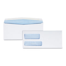 Quality Park Double Window Security Tinted Check Envelope, #8 5/8, White, 1000/Box