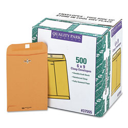 "Quality Park Kraft 6X9"" Clasp Envelopes, Bulk-Pack"
