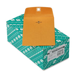 Quality Park Clasp Envelopes, Kraft, 28 lb., 5 x 7 1/2, 100/Box