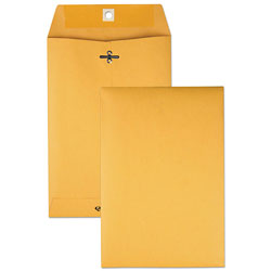 Quality Park Clasp Envelopes, Kraft, 28 lb., 6 1/2 x 9 1/2, 100/Box