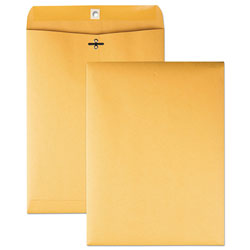 Quality Park Clasp Envelopes, Kraft, 28 lb., 9 x 12, 100/Box