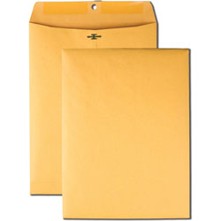 "Quality Park Clasp Envelopes, Hi-Bulk, 9"" x 12"", 100/BX, Kraft"