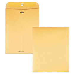 Quality Park Clasp Envelopes, Kraft, 28 lb., 9 1/2 x 12 1/2, 100/Box