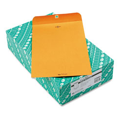 Quality Park Clasp Envelopes, Kraft, 28 lb., 9 1/4 x 14 1/2, 100/Box