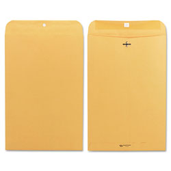 Quality Park Clasp Envelopes, Kraft, 28 lb., 10 x 15, 100/Box