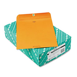 Quality Park Clasp Envelopes, Recycled Kraft, 28 lb., 10 x 13, 100/Box