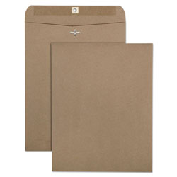 Quality Park 100% Recycled Brown Kraft Clasp Envelope, 10 x 13, Light Brown, 100/Box