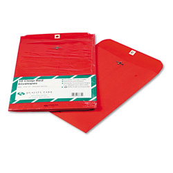 Quality Park Fashion Color Clasp Envelopes, Red, 9 x 12, 10/Pack