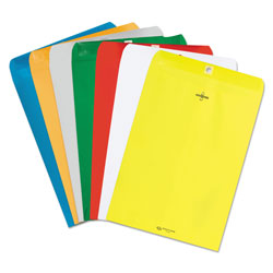 Quality Park Fashion Color Clasp Envelopes, Yellow, 9 x 12, 10/Pack